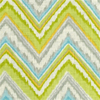 Chevron Charade Citrus Chevron Linen Look Drapery Fabric by Dena Designs