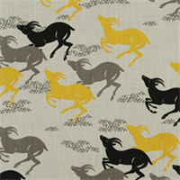 Caravan Citrine Contemporary Cotton Print Fabric by Robert Allen