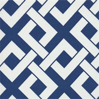 Boxed In Periwinkle Contemporary Outdoor Fabric