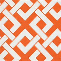 Boxed In Tangerine Tango Contemporary Outdoor Fabric
