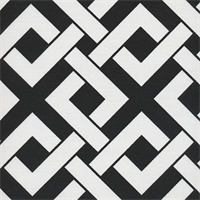 Boxed In Black Contemporary Outdoor Fabric