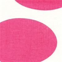 Circle Linen 3856-1 Fushia Oyster CC#2 Pink Dot Linen Fabric