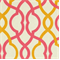 Makes Waves Sorbet Orange and Pink Contemporary Fabric by Waverly
