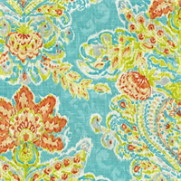 Crystal Vision Capri Floral Ikat Fabric by Dena Designs