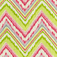 Chevron Charade Petal Contemporary Ikat print Linen Blend by Dena Designs