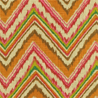Chevron Charade Gypsy Contemporary Ikat print Linen Blend by Dena Designs
