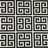 Towers Black/White by Premier Prints Designer Greek Key
