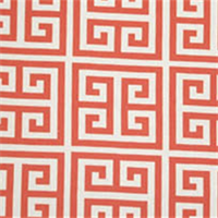 Towers Coral/White by Premier Prints Greek Key