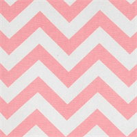 Zig Zag Baby Pink/White Cotton Chevron by Premier Prints