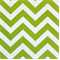 Zig Zag Chartreuse/White Cotton Chevron  by Premier Prints