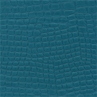 Croc Teal Blue poly/ faux vinyl non-expandable