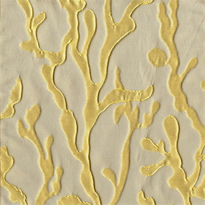 Barrier Golden Mist Coral Reef Embossed Faux Silk Drapery Fabric ...