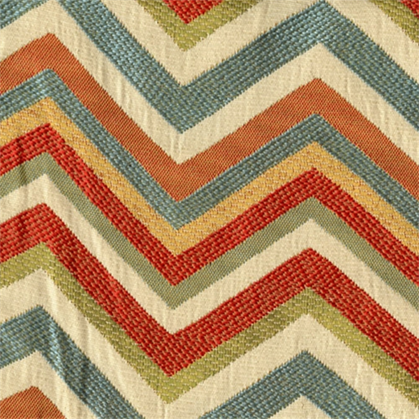 Grand Reggae Jewel Jacquard Chevron Upholstery Fabric - 30406