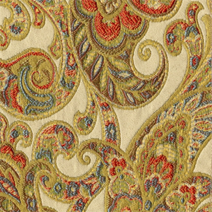Grand Paisley Gold Jacquard Paisley Upholstery Fabric