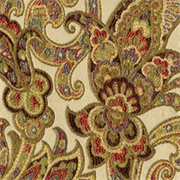 Grand Paisley Multi Jacquard Paisley Upholstery Fabric