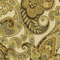 Grand Paisley Celery Jacquard Paisley Upholstery Fabric