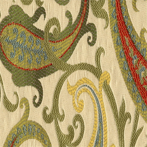 Grand Estate Gold Jacquard Floral Upholstery Fabric