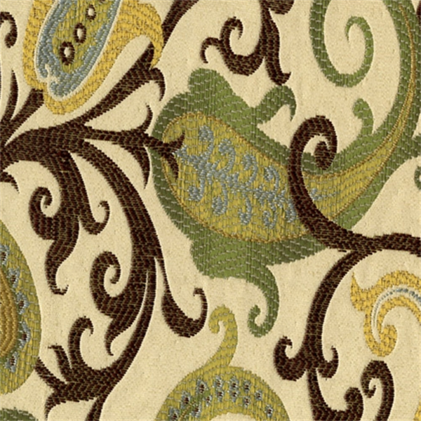 Grand Estate Celery Jacquard Floral Upholstery Fabric 30423