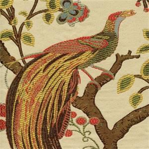Grand Phoenix Jewel Jacquard Floral Bird Upholstery Fabric