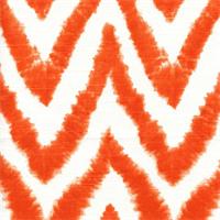 Diva-Tangelo Chevron Stripe Ikat Slub by Premier Prints - Drapery Fabric