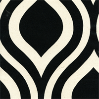 Emily Black/Natural by Premier Prints - Drapery Fabric