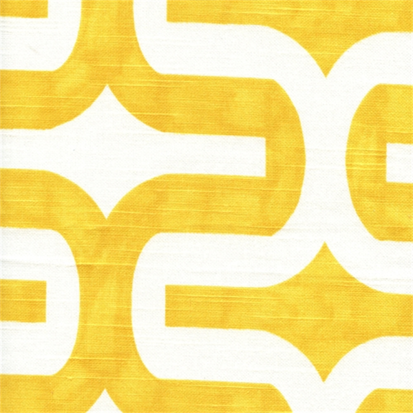 Embrace Corn Yellow/White Contemporary Slub Fabric by Premier ...