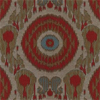 Sumachi Tangerine Suzani Ikat Woven Contemporary Upholstery Fabric by Swavelle Mill Creek