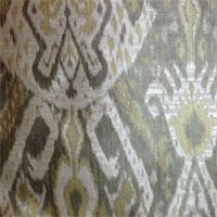 Oshima Sunshine Gold Woven Ikat Contemporary Drapery Fabric by Swavell Mill Creek