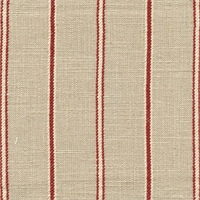 Bernard Tomato Linen Look Stripe Drapery Fabric by Richloom