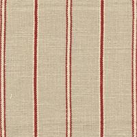 Bernard Tomato Linen Look Stripe Drapery Fabric by Richloom