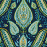Ombre Paisley Ultramarine Cotton Floral Drapery Fabric by Robert Allen