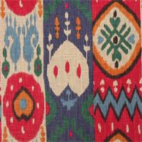 Kachina Garden Ikat Print Drapery Fabric by Richloom Platinum Fabrics