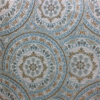 Kennedy Medallion Persian Blue Woven Embroidered Contemporary Upholstery Fabric by Richloom Platinum Fabrics