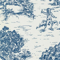 Ort Toile Nautical Printed Drapery Fabric