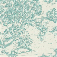Ort Toile Pool Printed Drapery Fabric