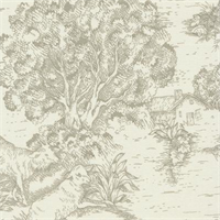 Ort Toile Pebble Printed Drapery Fabric
