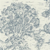 Ort Toile Dove Printed Drapery Fabric