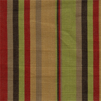 Multi Stripe Red/Green Upholstery Fabric