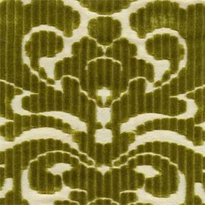 Tate Citrine Cut Chenille Floral Design Upholstery Fabric