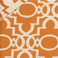 Bermuda Tangerine Contemporary Geometric Design Reversable Upholstery Fabric