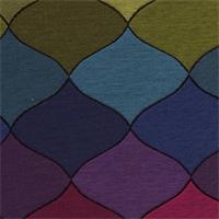 Kaleidoscope Jewel Ornament Design Upholstery Fabric
