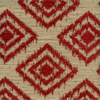 Diamond Head Claret Woven Ikat Textured Chenille Diamond Design Upholstery Fabric