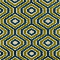 SoHo Jasmine Cut Chenille Octagon Design Upholstery Fabric