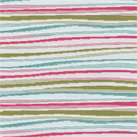 Drifter Multi Jagged Horizontal Stripe Upholstery Fabric
