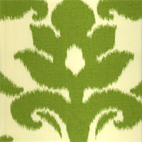 Azzuro Kiwi Ikat Cotton Drapery Fabric by Richloom