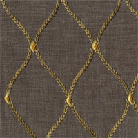 Engaging Platinum Embroidered Drapery Fabric by Swavelle Mill Creek