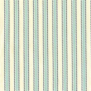 Boulevard Ocean Cotton Stripe Drapery Fabric 30 Yard Bolt