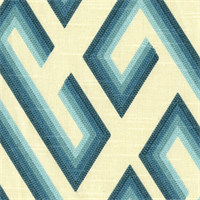 Kronos Teal Cotton Stripe Drapery Fabric by Richloom Platinum Fabrics