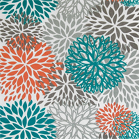 Blooms Pacific Outdoor by Premier Prints - Drapery Fabric