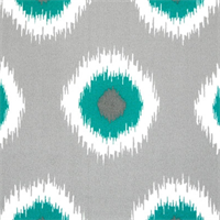 Ikat Domino Pacific Outdoor by Premier Prints - Drapery Fabric